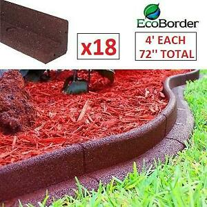 NEW 18 LANDSCAPE EDGING 4 SECTIONS 246581863 ECOBORDER GARDEN PATIO OUTDOOR RED