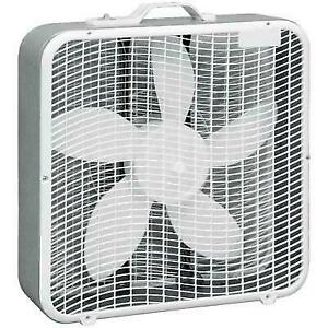 "Comfort Zone CZ200A 20"" Box Fan with 3 Speeds - White"