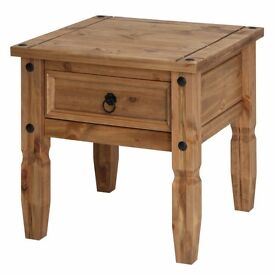 Mexican Pine Lamp Table