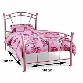 Single bed frame - pink hearts - child