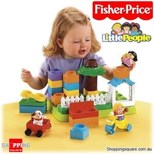 little people builders Fisher Price (in a plastic box)