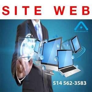 CONCEPTION SITE WEB ET HÉBERGEMENT 1 AN INCLUS - MONTRÉAL - 449-