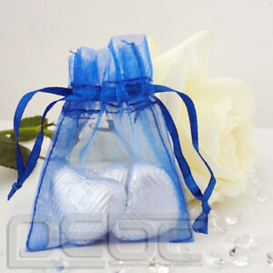 HOT 25/50/100 Lot ORGANZA WEDDING PARTY FAVOUR GIFT Jewellery BAGS 3x4
