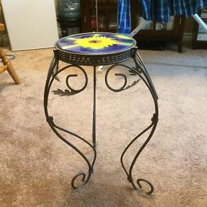 Sunflower Metal plant stand