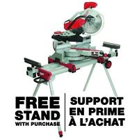 """Trade 12"""" Milwaukee sliding mitre saw with stand"""