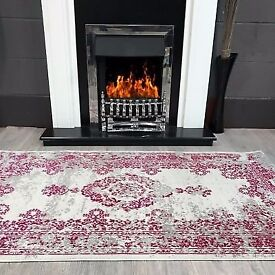 Cream pink traditional rug (brand new)
