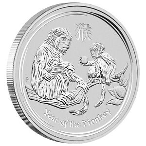 2016 perth mint year of Monkey 5 oz silver coin