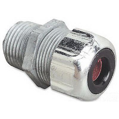 T B 2521 12 Straight Zinc Liquidtight Strain Relief Cord Conn .250-.375