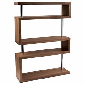 Contour wide shelving walnut - 50% discount
