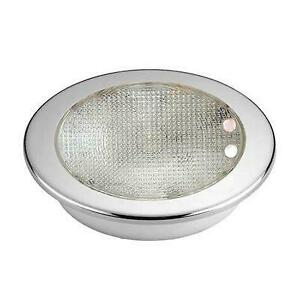 Domelight W / Ss Ring Led Red / Wht Dimmer