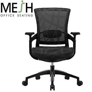 NEW SKATE ERGONOMIC MESH CHAIR MESH CHAIR, ADJUSTABLE ARMS, BLACK - FURNITURE DESK CHAIRS SEATING SEATS 102066042