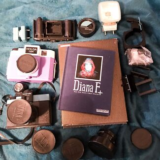 Selection of lomography cameras and lenses, Diana and holga