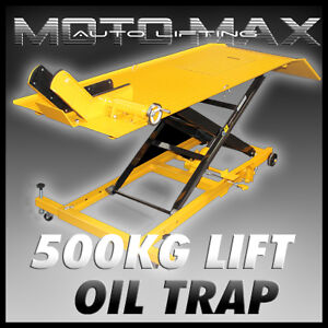NEW-MOTOMAX-MOTORCYCLE-LIFT-TABLE-Dirt-Pit-ATV-Motorbike-Bike-Stand-Jack-Hoist