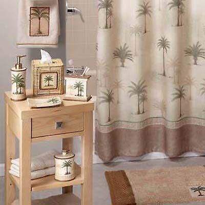 Palm Tree Fabric Shower Curtain Ebay