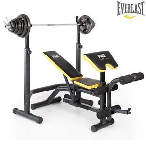 Everlast Olympic Weight Bench Squat Rack With 100kg