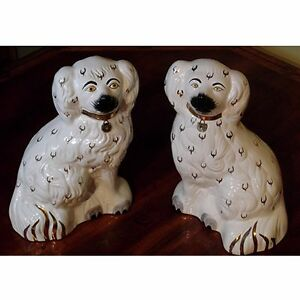 Pair of Vintage Staffordshire Spaniels Kingston Kingston Area image 1