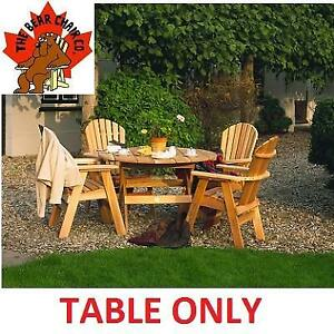 NEW BEAR CHAIR ROUND FOLDING TABLE BC48 168410819 DINING WOOD 48