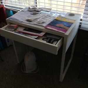 White IKEA desk with drawer Kensington Eastern Suburbs Preview