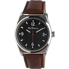 mens ben sherman brown watch
