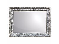 Silver Rectangular Mirror by Home Essence