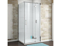 800x800mm shower cubicle - 8mm thick glass with stone resin tray and waste
