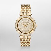 $380 Michael Kors Women's Steel Watch Darci Gold Tone MK3398
