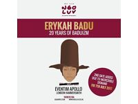 2 x Erykah Badu Tickets