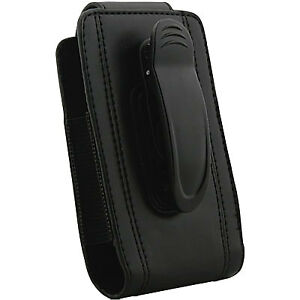 Naztech Black Executive Pouch Case with Rotating Belt Clip 10148