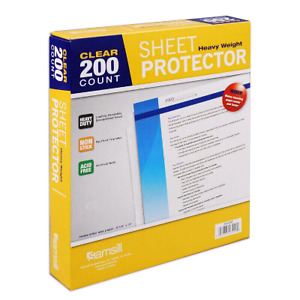 Brand New 200/Pk Samsill Clear Sheet Protector Heavy Weight