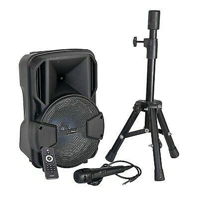 "PARTY SET ACTIVE SPEAKER 8"" 300W INC STAND + MICROPHONE"