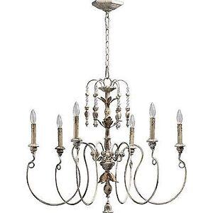Quorum Lighting 6006 6 70 Nto Chandelier Persian White