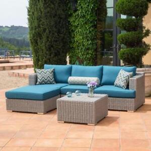 Ensemble de sofa extérieur 5 pièces turquoise (MS116)