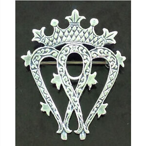 "Antique sterling Scottish ""luckenbooth"" brooch from the late 180"