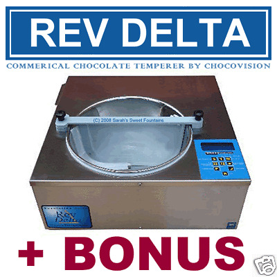 Revolation Delta Commercial Chocolate Tempering Machine Temperer Nsf Approved