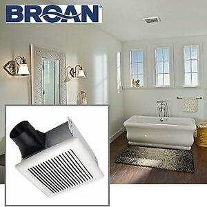 OB BROAN BATHROOM VENTILATION FAN AE80 210485250 ENERGY STAR QUALIFIED SINGLE SPEED 80 CFM 0.8 SONES OPEN BOX