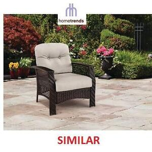 NEW HOMETRENDS LOUNGER CHAIR PATIO LOUNGER CHAIR WITH OTTOMAN - WICKER 108777764