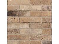 Cream Brick Effect Porcelain Tiles (6cm x 25cm)
