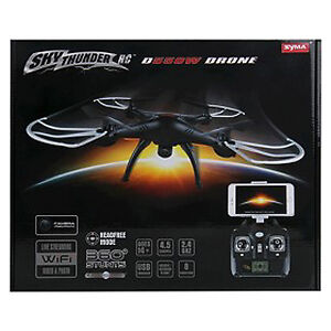 Sky Thunder RC D550 Wi-Fi Drone 4.5 Channel NEW SEALED BOX Syma