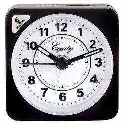 La Crosse Technology 20078 Travel Alarm Clock, Quartz Movement, Black