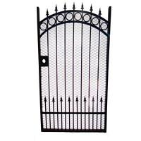 Californian Wrought %100 Iron Black Metal Gate, Garden Gate