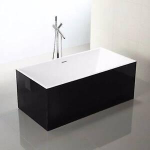1500 x 750 x 600 mm Square Black Freestanding Acrylic Bath Tub Granville Parramatta Area Preview