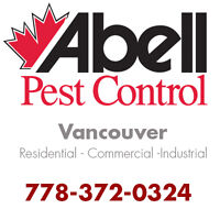 Guaranteed Pest Control Service for Vancouver/778-372-0324