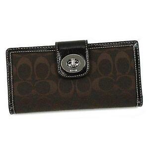 Women s Coach Checkbook Wallet d6d30e321a674