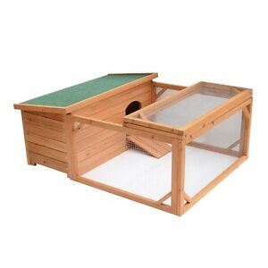 "Wooden Chicken Poultry Bird Rabbit Pet Coop 53""/ Rabbit Hutch"