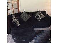 Dfs black embrace corner sofa excellent condition
