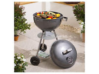 Grey Charcoal Barbeque/grill (BBQ)-brand new-from smoke&pet free home (unwanted gift)