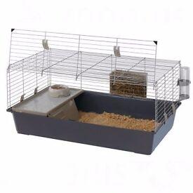 brand new 100cm ferplast indoor rabbit guinea pig cage with all accessories, bedding, shavings etc