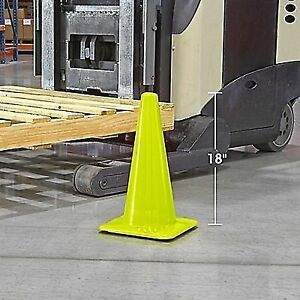 """18"""" Lime Green Traffic Cones"""