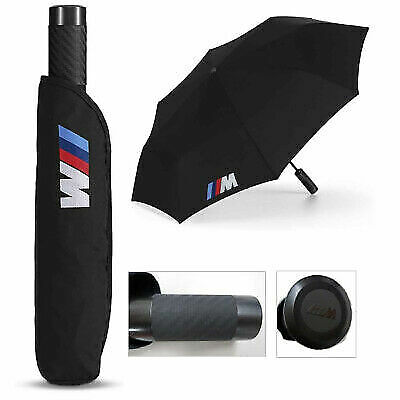 BMW New Genuine M Black Folding Umbrella with M Logo 80232410917