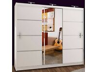 🌟 Beautiful Amazing vision sliding door mirrored wardrobe in many options with Express Delivery 🚚